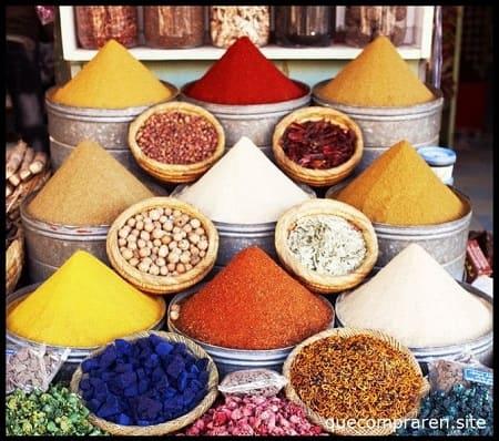 Comprar especias en Marruecos