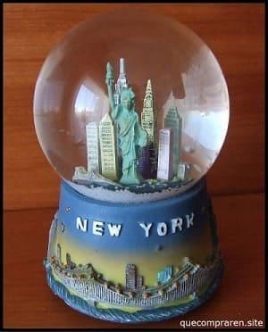Globo de nieve de típico de Nueva York