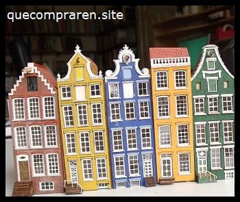 Recuerdo de casas de Amsterdam