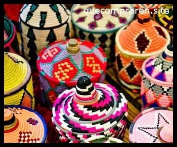 Las cestas como souvenir
