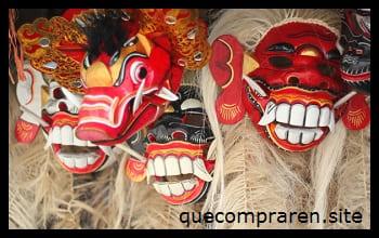 Típicas máscaras Barong