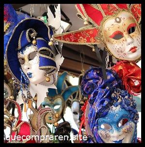 Máscaras venecianas de recuerdo